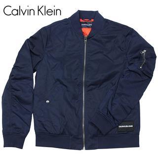 カルバンクライン(Calvin Klein)のカルバンクライン ボンバージャケット MA-1 ブルゾン NVY-L(フライトジャケット)