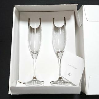 ヨンドシー(4℃)の4℃ ☆シャンパングラス(ペア)(グラス/カップ)