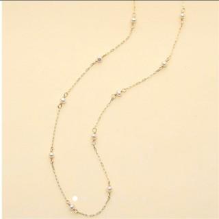 ノジェス(NOJESS)のNOJESS K10 パールロングネックレス 60cm(ネックレス)