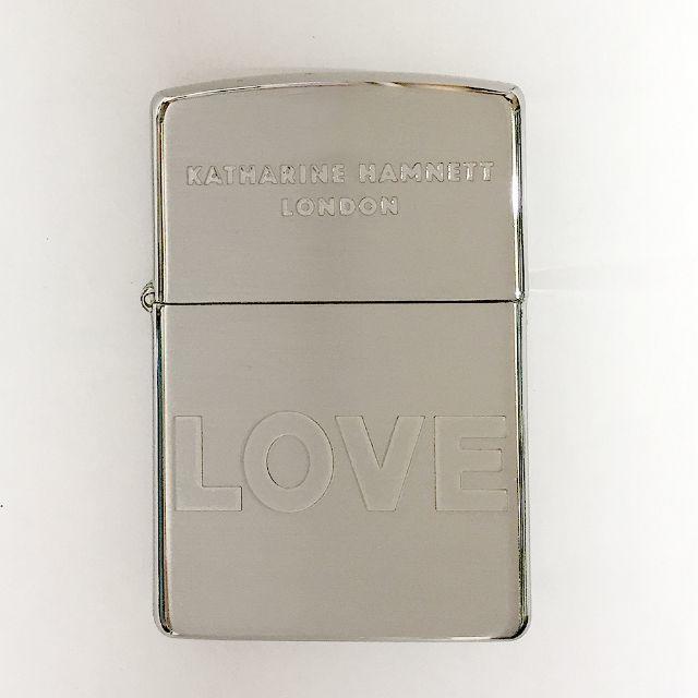 KATHARINE HAMNETT(キャサリンハムネット)のキャサリンハムネット オイルライター Zippo LOVE メンズのファッション小物(タバコグッズ)の商品写真