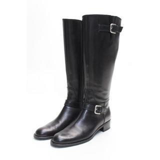 ストロベリーフィールズ(STRAWBERRY-FIELDS)のSTRAWBERRY-FIELDS 本革ベルトブーツ(23cm)美品(ブーツ)