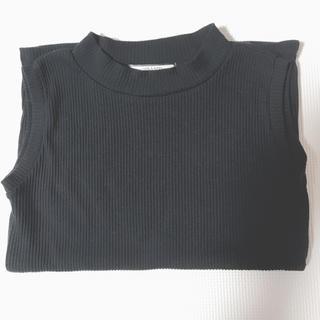 シマムラ(しまむら)のノースリーブ 黒 ブラック(カットソー(半袖/袖なし))