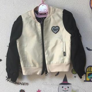 ジェニィ(JENNI)のJENNI♡革合成♡バイカラージャケット♡95(ジャケット/上着)