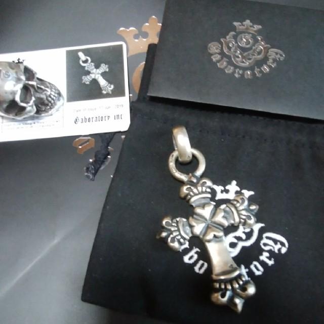 Gabor(ガボール)の最終ガボール カスタムロング4ハートクラウンクロスwithH.W.Oペンダント メンズのアクセサリー(ネックレス)の商品写真