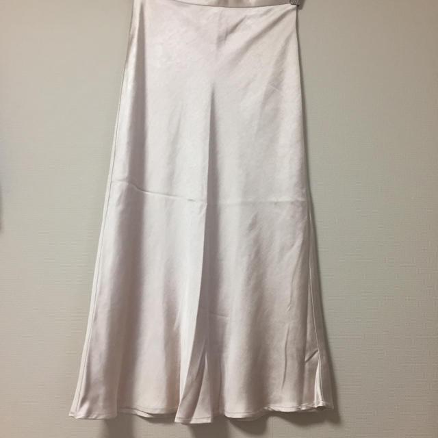 サテンスカート レディースのスカート(ひざ丈スカート)の商品写真