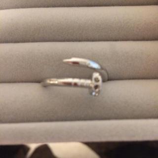 釘型 指輪 ジルコニア Cartier好きに(リング(指輪))