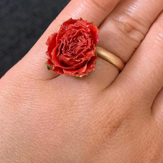 薔薇 オレンジ 指輪(リング(指輪))