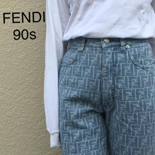 フェンディ(FENDI)のvintage FENDI ジーンズ jantiques preloved 総柄(デニム/ジーンズ)