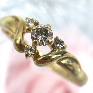 K18 ジュエリーマキ ダイヤモンド 0.17 4Pダイヤ リング 10.5号(リング(指輪))