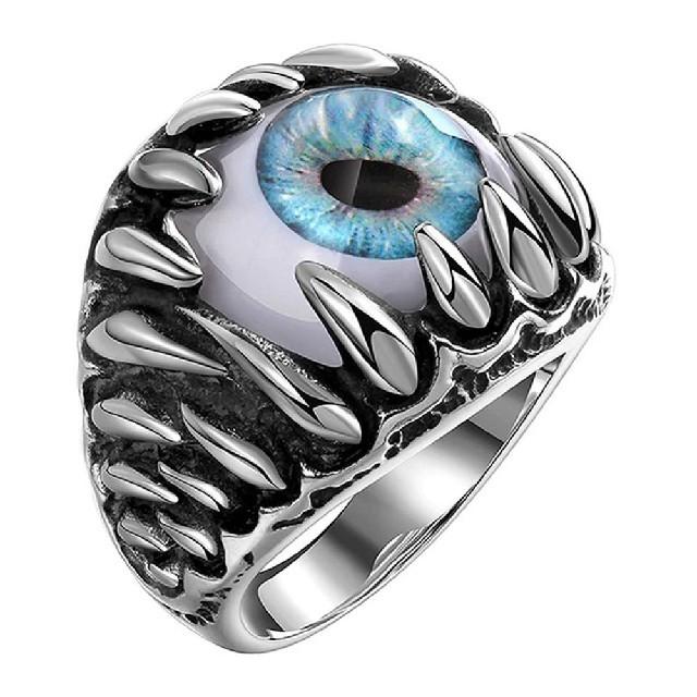 ブルー モンスターアイ リング 指輪 ノーブランド メンズのアクセサリー(リング(指輪))の商品写真