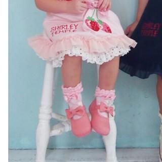 シャーリーテンプル(Shirley Temple)の新品 シャーリーテンプル リボンキャンバスシューズ ピンク 16(フォーマルシューズ)