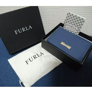 フルラ(Furla)のFURLA 三つ折り財布 未使用品 ブルー(折り財布)