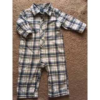 ベビーギャップ(babyGAP)のベビーギャップ チェックシャツのような秋冬ロンパース(ロンパース)