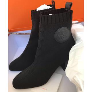 エルメス(Hermes)の正規品☆新品☆エルメス ヴォルヴェールブーツ 36サイズ 黒(ブーツ)