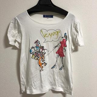 エムズグレイシー(M'S GRACY)のカットソー 半袖 大きいサイズ(Tシャツ(半袖/袖なし))