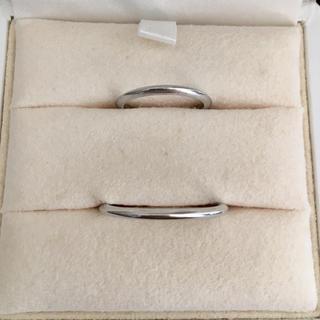タサキ(TASAKI)のTASAKI 田崎真珠 プラチナ ペア リング Pt900 1.5mm 5.2g(リング(指輪))