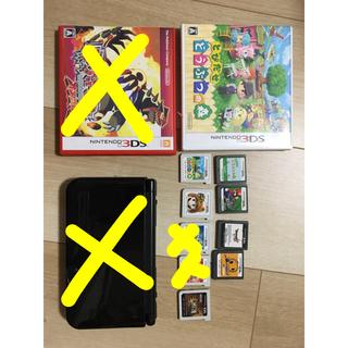 ニンテンドー3DS(ニンテンドー3DS)の任天堂3DS LL 3DSソフト6枚 DSソフト4枚 セット(家庭用ゲームソフト)