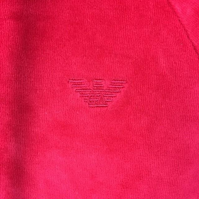 Emporio Armani(エンポリオアルマーニ)の美品 エンポリオアルマーニ 長袖パーカー ピンク サイズXS メンズのトップス(パーカー)の商品写真