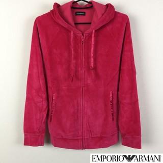 エンポリオアルマーニ(Emporio Armani)の美品 エンポリオアルマーニ 長袖パーカー ピンク サイズXS(パーカー)