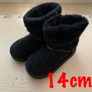 プティマイン(petit main)のキッズ ベビー ♡ ムートンブーツ 黒色(ブーツ)