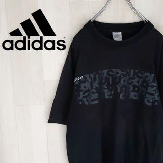 アディダス(adidas)の【04-68】★レアデザイン アディダス 半袖Tシャツ プリントTシャツ ロゴ(Tシャツ/カットソー(半袖/袖なし))