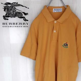 バーバリー(BURBERRY)の【04-85】★ダメージ特価 バーバリーロンドン 半袖ポロシャツ 刺繍ロゴ(ポロシャツ)