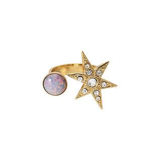 ビームス(BEAMS)のADER. bijoux アデル ビジュー MOON&STAR カボションリング(リング(指輪))