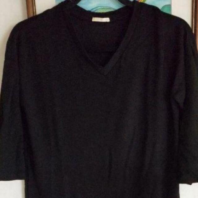 GU(ジーユー)のGU ロングTシャツ 七分袖 レディースのトップス(Tシャツ(長袖/七分))の商品写真