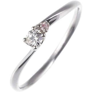 ダイヤモンド リング プラチナ ピンク ダイヤ 婚約指輪(リング(指輪))
