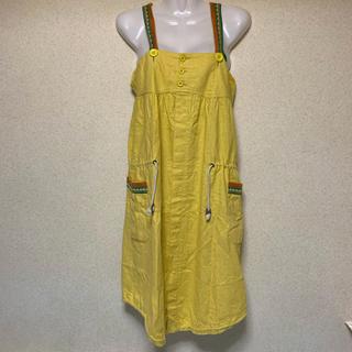 ロンハーマン(Ron Herman)のRULEZPEEPS サロペットワンピース MADE IN JAPAN 中古美品(ひざ丈ワンピース)