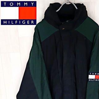 トミーヒルフィガー(TOMMY HILFIGER)の【04-43】★ビッグサイズ トミーヒルフィガー ナイロンジャケット アームロゴ(ナイロンジャケット)