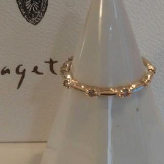 アガット(agete)の★ アガット K10 リング ダイヤモンド 11号 レイヤード レース(リング(指輪))