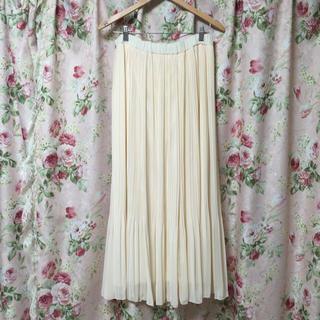 シマムラ(しまむら)の白のロングスカート(ロングスカート)