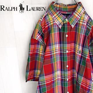 ラルフローレン(Ralph Lauren)の【04-25】★人気のカラフル色 ラルフローレン 半袖シャツ ビッグシルエット(シャツ)