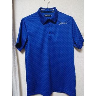 Srixon - SRIXON  スリクソン ゴルフ ポロシャツ ブルー LL