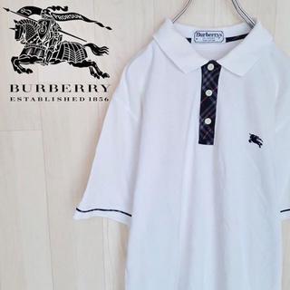 バーバリー(BURBERRY)の【03-9】バーバリーロンドン 半袖ポロシャツ チェック ヴィンテージ(ポロシャツ)