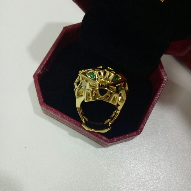 Cartier(カルティエ)のカルティエCartier リング 8号 メンズ 綺麗な虎 メンズのアクセサリー(リング(指輪))の商品写真