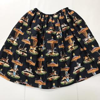ジェーンマープル(JaneMarple)のカルーセル スカート ブラック(ひざ丈スカート)