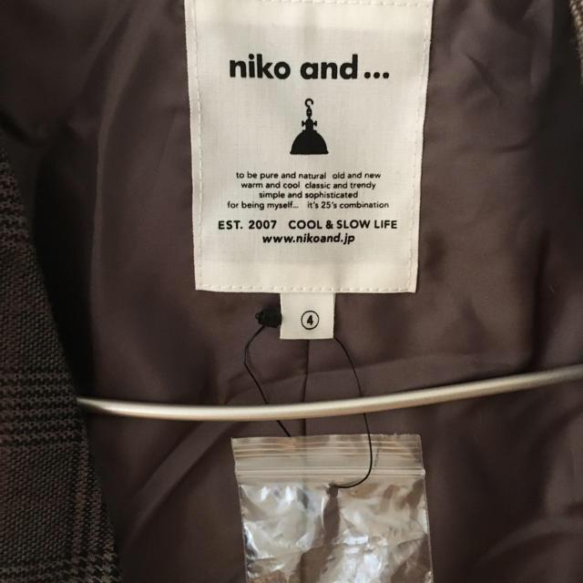 niko and...(ニコアンド)のniko and... ジャケット 千鳥格子 チェック レディースのジャケット/アウター(テーラードジャケット)の商品写真