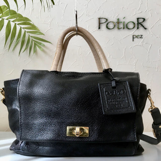 バーニーズニューヨーク(BARNEYS NEW YORK)のPotioR ポティオール 約4万 2way レザーショルダーバッグ 鞄(ハンドバッグ)