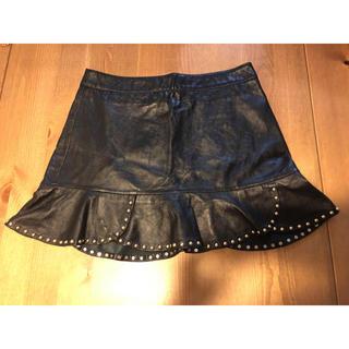 ザラ(ZARA)のZARA✳️美品レザースカート(ひざ丈スカート)