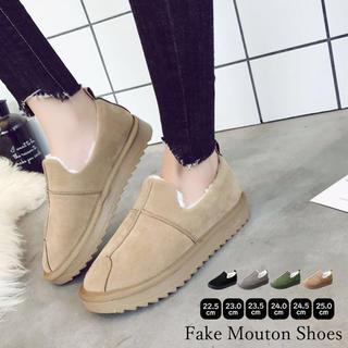 ♥ ムートンブーツ ショート ボア 靴 あったか 靴 歩きやすい 疲れにくい(ブーツ)