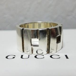 グッチ(Gucci)の[正規品] GUCCI リング 18~19号 鏡面研磨済 指輪 シルバー(リング(指輪))