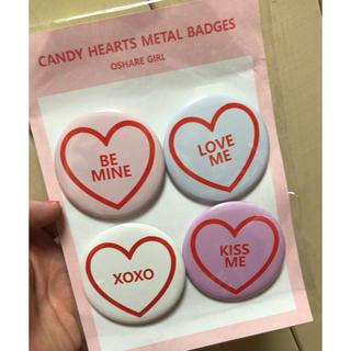 スパンク(Spank!)のcandy hearts 缶バッジ バッジ(その他)