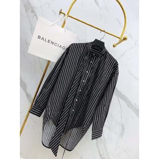 バレンシアガ(Balenciaga)のBALENCIAGAバレンシアガ シャツ 男女通用 黒 ゆるコーデ(シャツ)