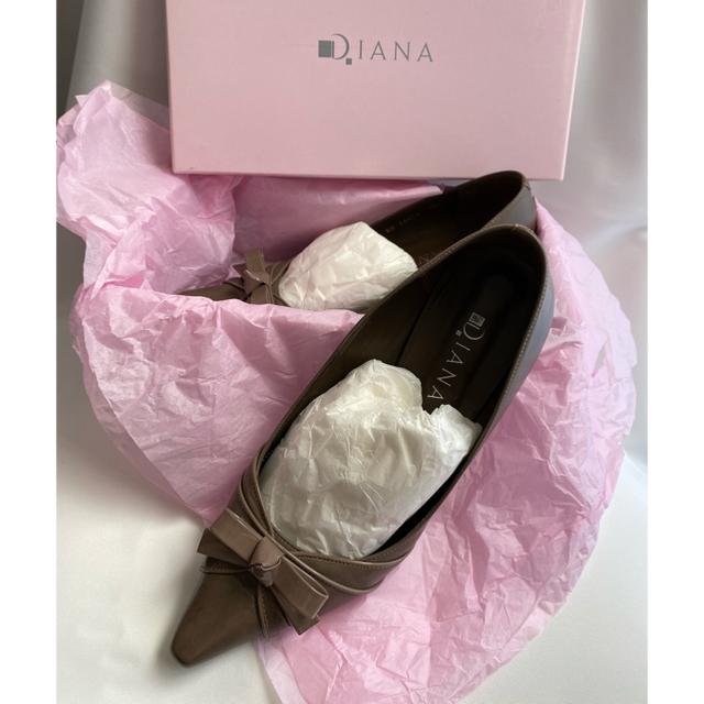 DIANA(ダイアナ)のDIANA ダイアナ パンプス 25.5cm エナメルリボン レディースの靴/シューズ(ハイヒール/パンプス)の商品写真