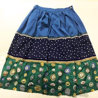 ジェーンマープル(JaneMarple)のマテリアルMIX スカート(ひざ丈スカート)