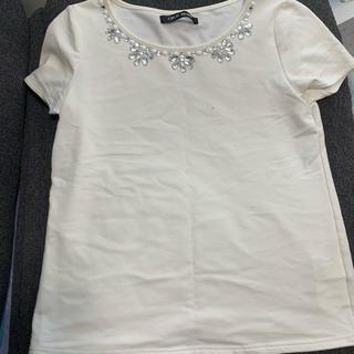 CECIL McBEE - 10/14限定値下げ CECIL McBEE ビジュー付きTシャツ