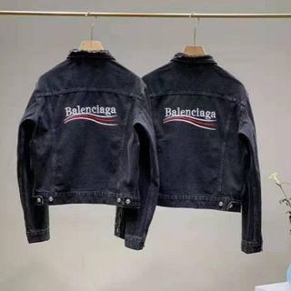 バレンシアガ(Balenciaga)の超美品BalenciagaGジャン/黒い(Gジャン/デニムジャケット)