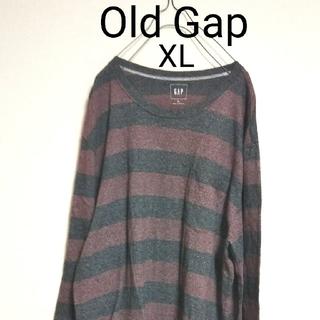 ギャップ(GAP)のUSA古着 90s ロンT Old Gap オーバーサイズ ボーダー シャツ(Tシャツ/カットソー(七分/長袖))